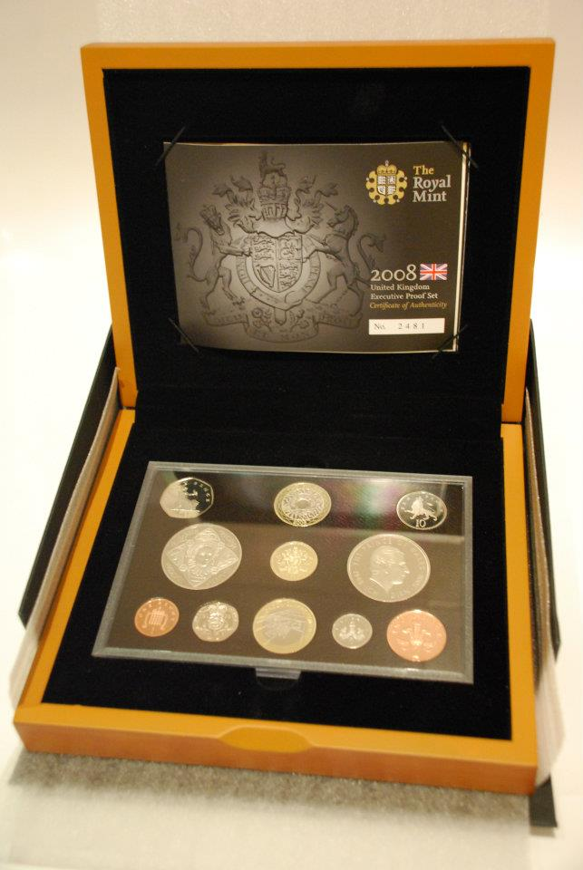 proof coin box set silver and gold coins